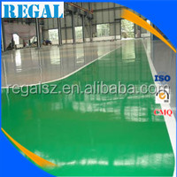 Epoxy resin paint flooring for chicken processing