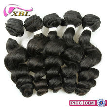 Double Layers Machine Weft Natural Color Romance Curl 7A Raw Cambodian Hair Weave