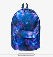 zohra 3d print digital sublimation galaxy print school backpack