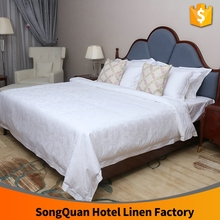 2016 newest design hot selling white colour 40*40 250tc embroidery bed cover designs