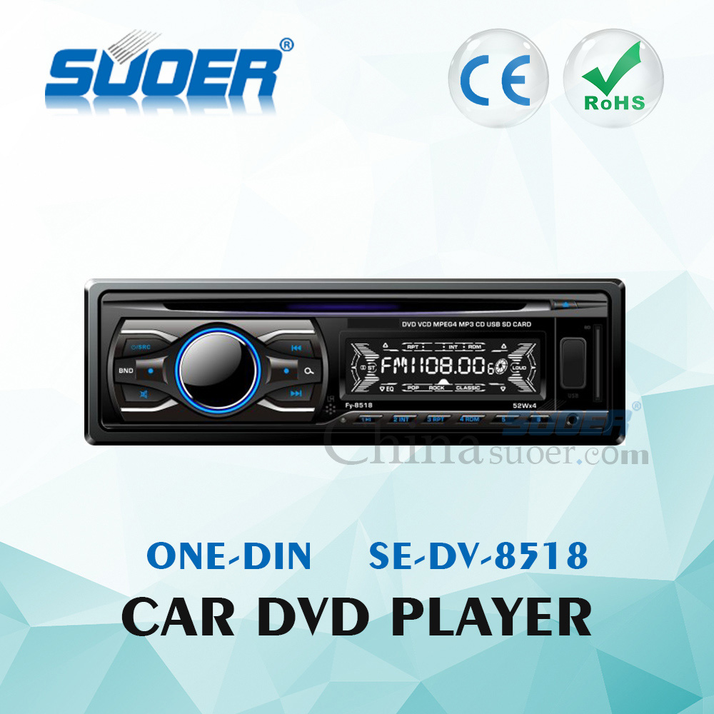 Suoer High Quality Car DVD Player One Din Car Audio Video DVD Player with CE&ROHS