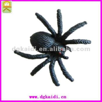 lovely 3d plastic spider toys pvc insects figurines