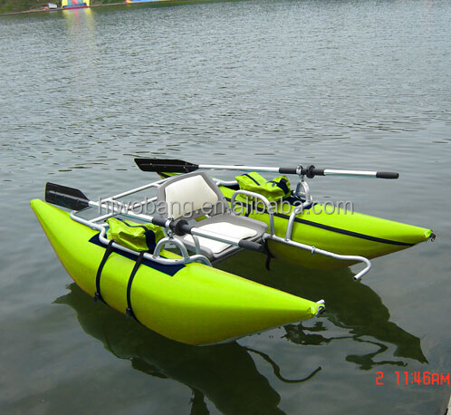 3.2m 0.9mm PVC Inflatable Aluminum Pontoon Boat with CE for fishing