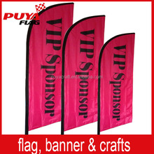 Custom 110g knitted polyester printing feather flag,advertising feather banner,promotional feather flags