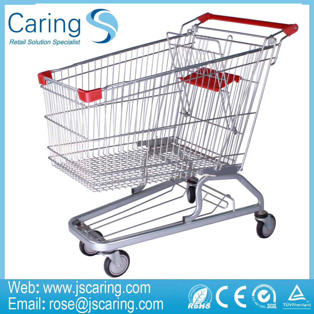 150L Europe Type Supermarket Shopping Trolley/Shopping Cart/Supermaket Trolley