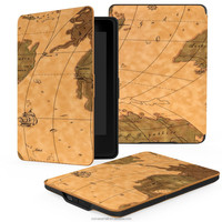 High Quality Printing Map Design Stand PU Leather Case for Kindle Paperwhite