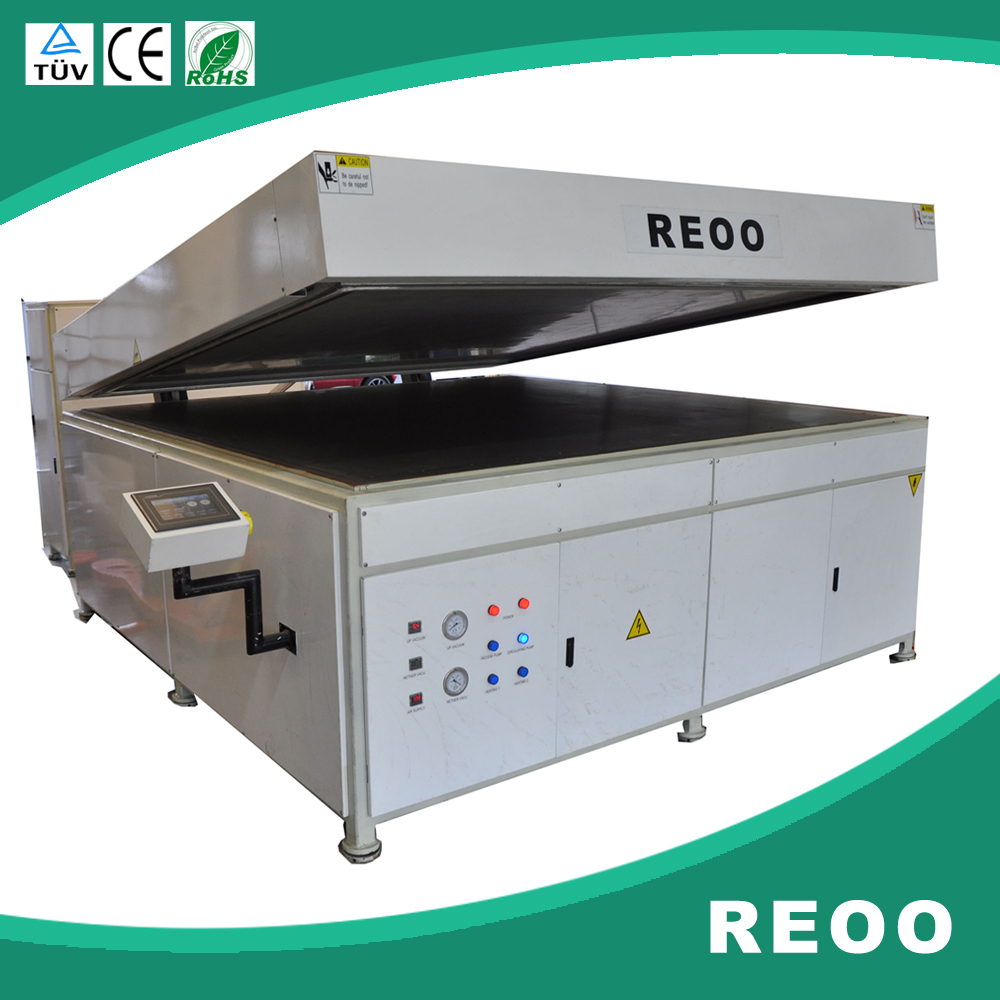 REOO semi auto Can process 2 pcs of 300watt solar panel in one times RO-B1 Solar panel laminators