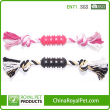 MANUFACTORY PRICE GOOD DESIGN DARK/RED RUBBER WITH ROPE PET TOY