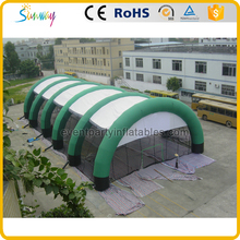 Hot sale green and white big inflatable camping tent for sale