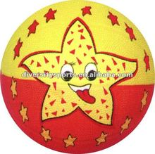Colorful Star Design Mini Offical Size Rubber Basket Ball