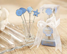 wedding favor gift and giveaways for guest -- Seaside Hors d'oeuvre Picks Fruit fork(set of 4 picks) party Gifts