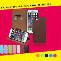 2015 Fashion Design Phone Case 6/6s PU leather flip wallet case for iphone case
