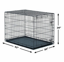 21'' 24''36'' 48 '' large black double door folding dog cage dog kennel dog house