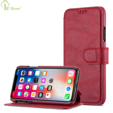 Original Flip Cover Wallet Style Stand Leather Phone Case For Apple iPhone X With 3 Card Slots , For iPhone X Case Luxury