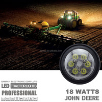 Working Beam 18W Trapezoid Beam John Deere Tractor Led Head lamp Light