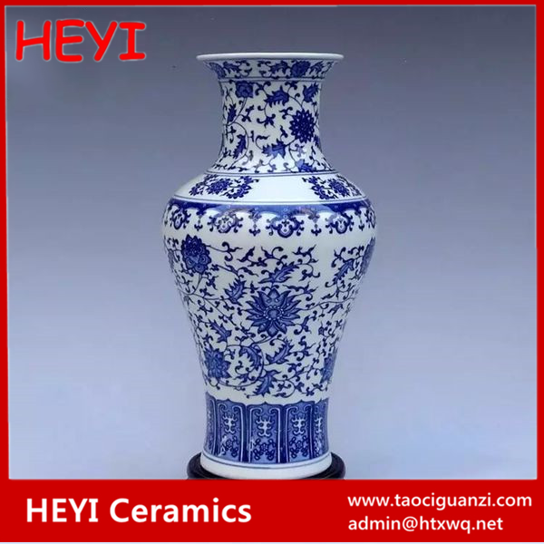 Hot sale high quality customized blue and white vases