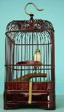 Handmade wooden carved bird cage antique hanging bird cages bamboo wood bird house