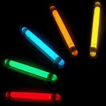100 Pcs Small Assorted Color Glow Sticks Fishing Floats
