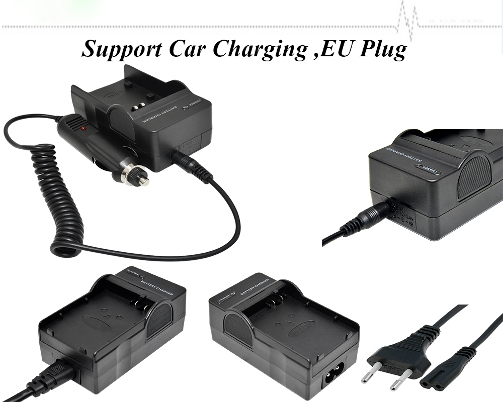 ITB chargers digital camera battery charger li42B for olympus camera battery charge+car charger+Eu plug cord