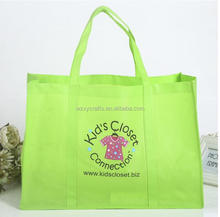 Wholesale promotional cheap custom foldable with handle shopping recycle non woven bag