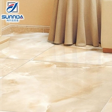 600x600mm rectified glazed full polished porcelain floor tiles for hall decoration