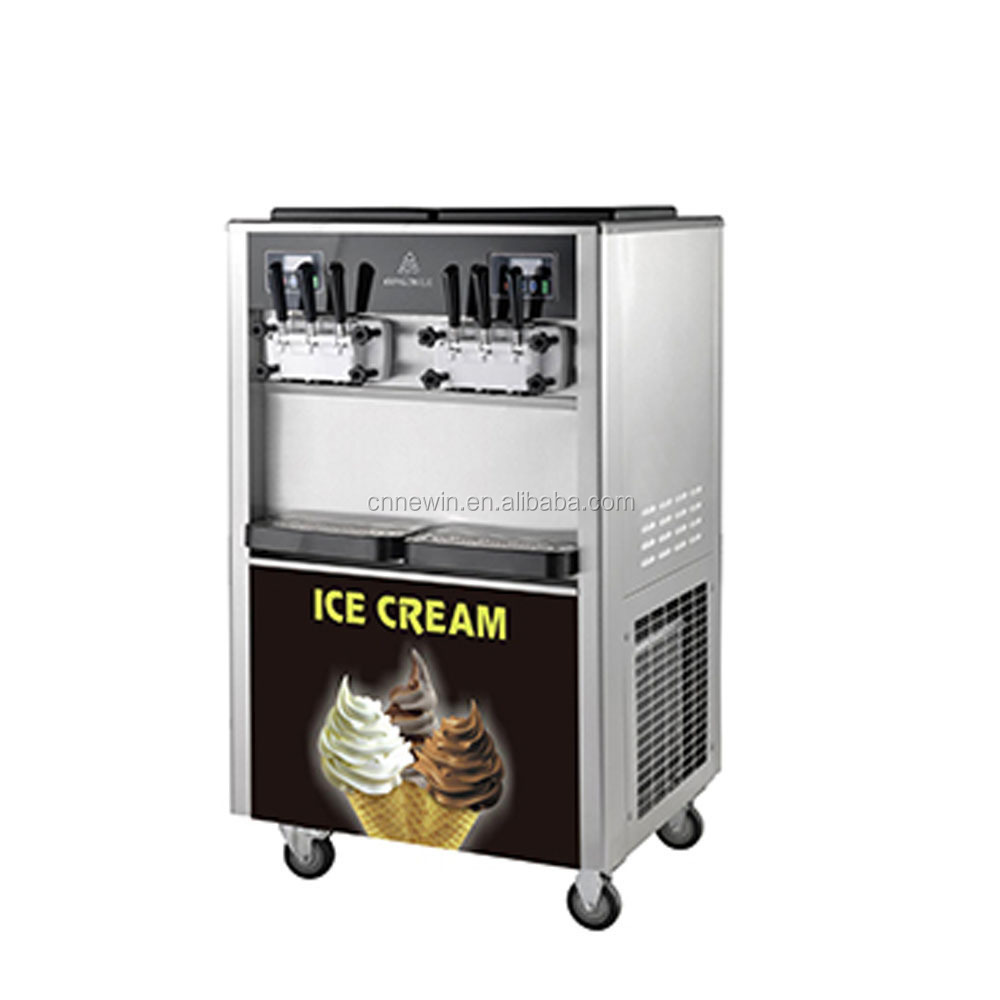 50L/H Vertical 6 flavors Commercial Soft ice cream machine for sale