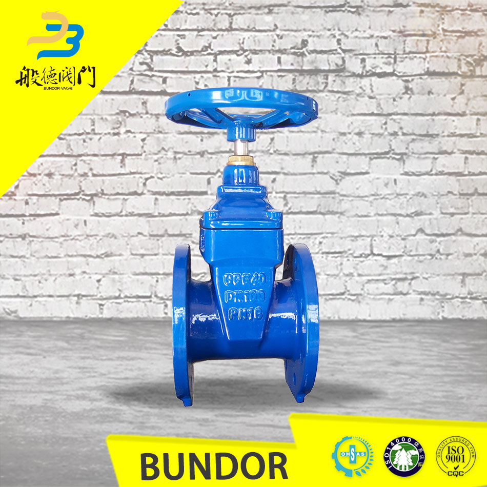 cast iron ggg40 rubber lined 12 inch gate valve