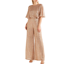 Stardust sequined chiffon jumpsuit