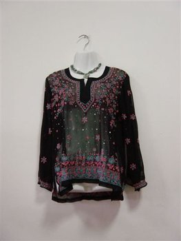 Hand Embroidered Sequin Tops For Ladies And Kids