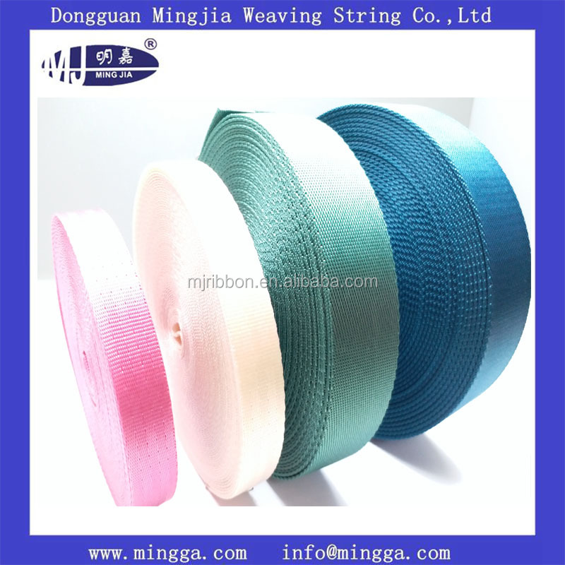 Different custom colors printed nylon webbing for garment
