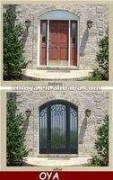 Metal arched ventilation grille entry door