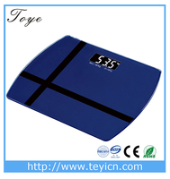 TOYE 180kg mini ABS plastic home body tempered glass personal calibrate digital bathroom scale TY-EB615