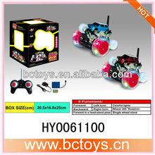 rc stunt rolling car 360 degrees single wheel rotatin stunt rc car with light and music HY0061100