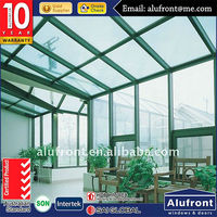 Top quality thermal heat and energy saving customized size excellent aluminum commercial glass green houses