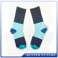 mens colorful bulk wholesale custom logo dress 100% cotton socks