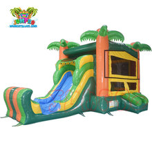 Hot sale used commercial jumping bouncer house combo jumpoline inflatable bouncy castle with water slide
