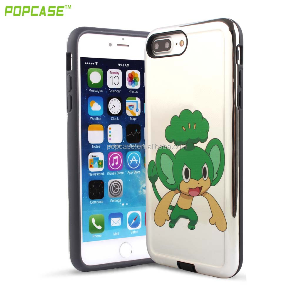 Hybrid Fashion Cover pokemon go Phone Case For Iphone 7plus