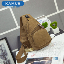 Kamus brand new fashion design custom backpacks outdoor man running sport canvas sling shoulder chest pack