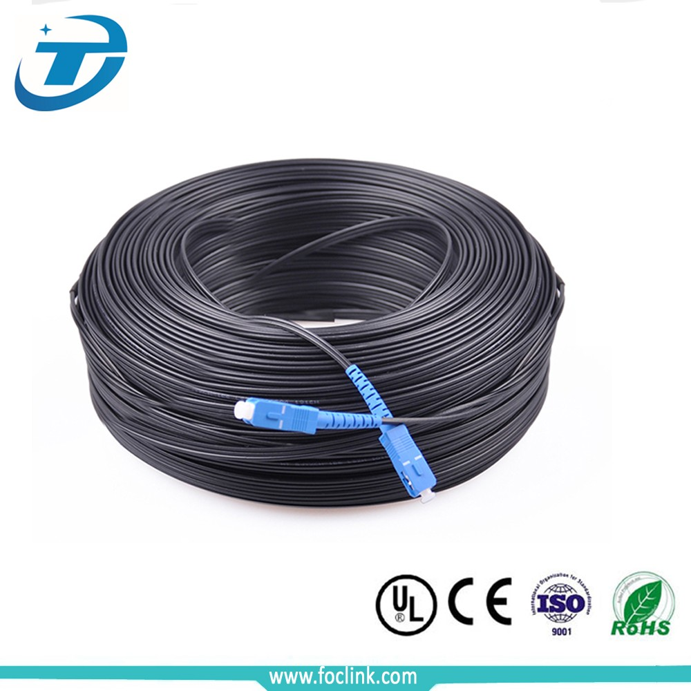 Factory Indoor Outdoor 1 2 core FTTH Drop Cable G657A, LSZH Figure 8 Drop Fiber Optic Cable price in Telecommunication