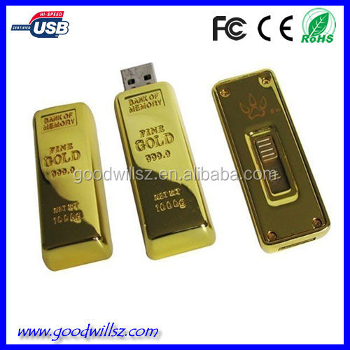 Gold Bars USB Stick,bulk usb flash drive,pendrive for promotional gift
