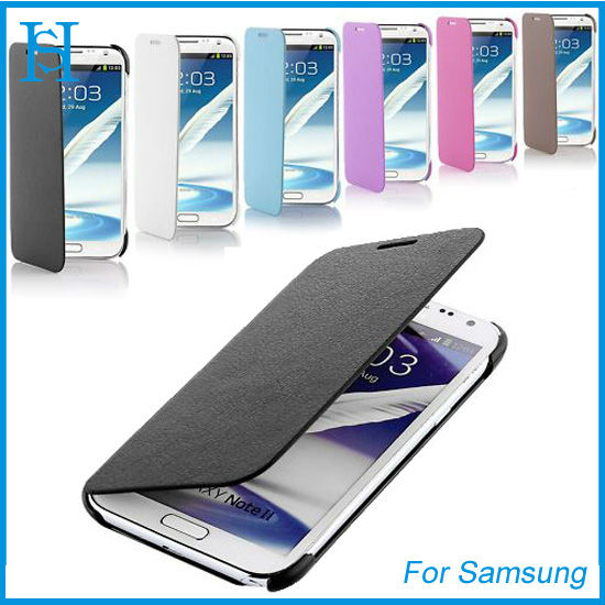 fancy wallet leather case for samsung galaxy note ii 2 n7100