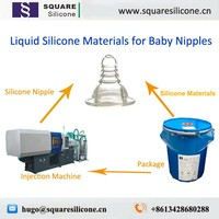 2 part food grade injection silicone rubber for baby nipples