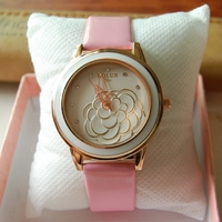 Hot Selling Cheap Wholesale Women Custom Printed Logo on Strap Dial Ladies Leather Wrist Watches Vogue Women Gift Watches