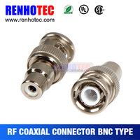 Qualified supplier bnc connector bnc male to RCA female adapter