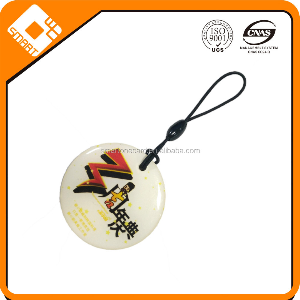 Factory price customized smart RFID round nfc glue card