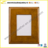 Hardcover OEM Design Durable Waterproof PU Leather 2x2 Photo Picture Frame Sales In Shenzhen