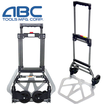 High quality platform luggage cart two wheel portable aluminum hand truck