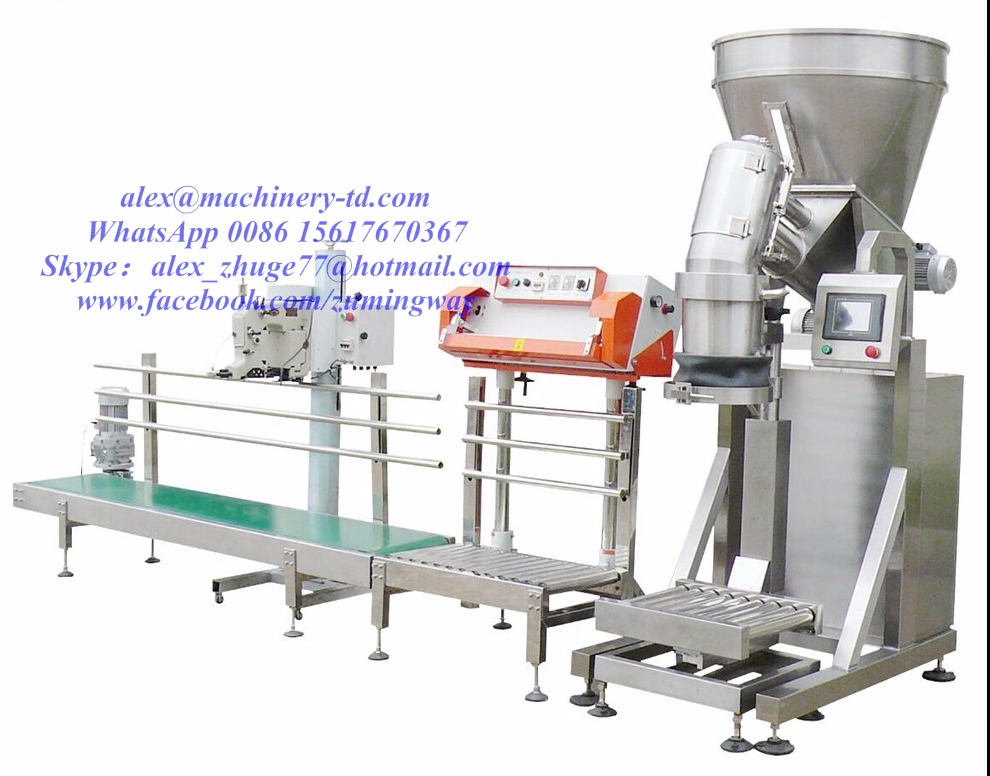 A925 Good price 25kg Automatic Packing Machine with Sewing Machine in South America