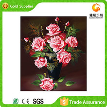 Custom Made Mosaic Of Diamond 5D Diy Flower Rose Handmade Oil Painting