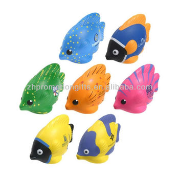PU Stress tropical fish, anti fish stress ball supplier, Foam fish stress balls